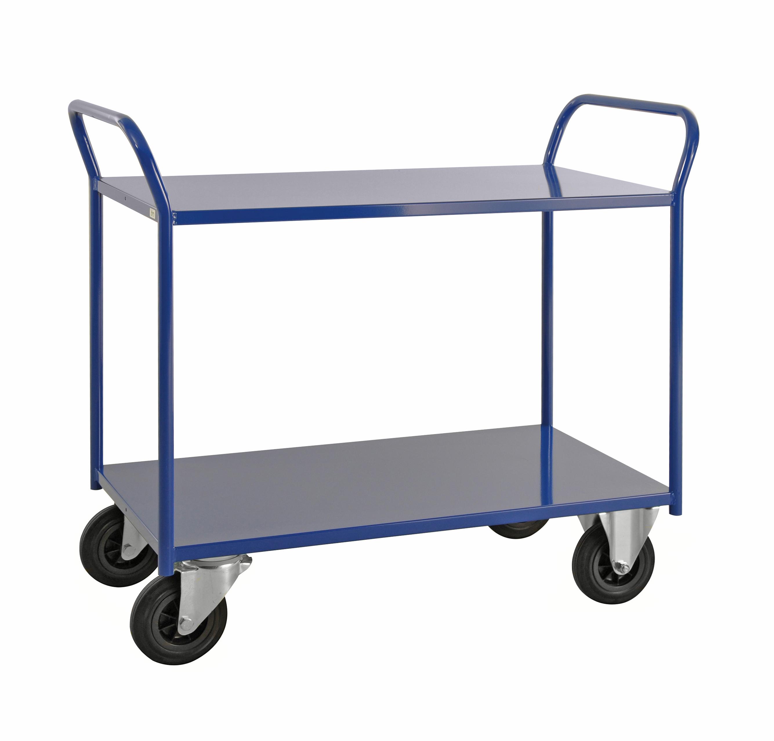 Shelf trolley 2 levels, fully welded KM4126-B