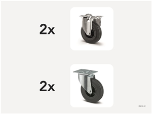 KM143-12   Hjulsats 125 mm