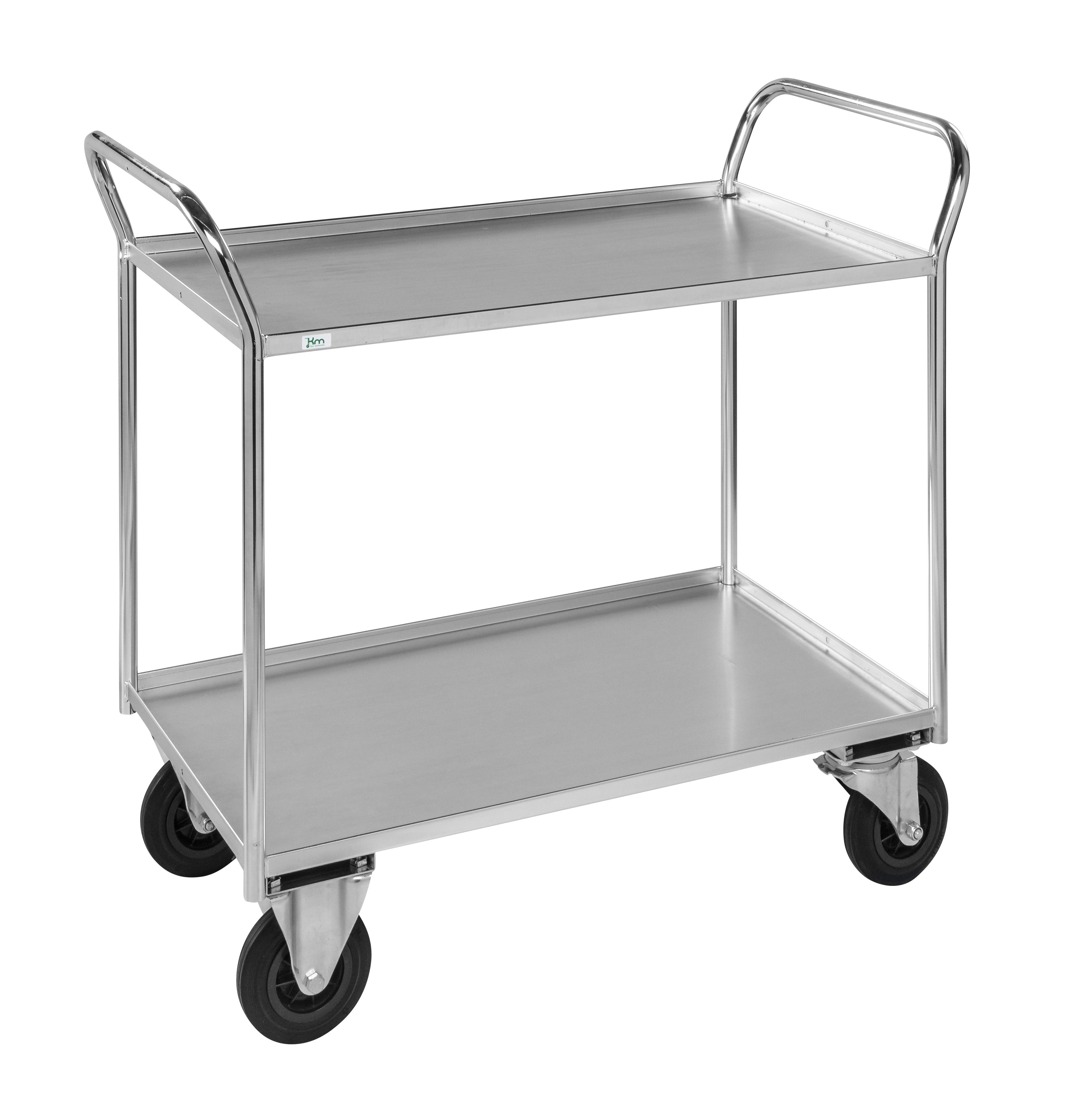 Shelf trolley 2 levels, fully welded KM4133-E