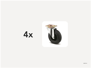 KM143-4 | Hjulsats 200 mm