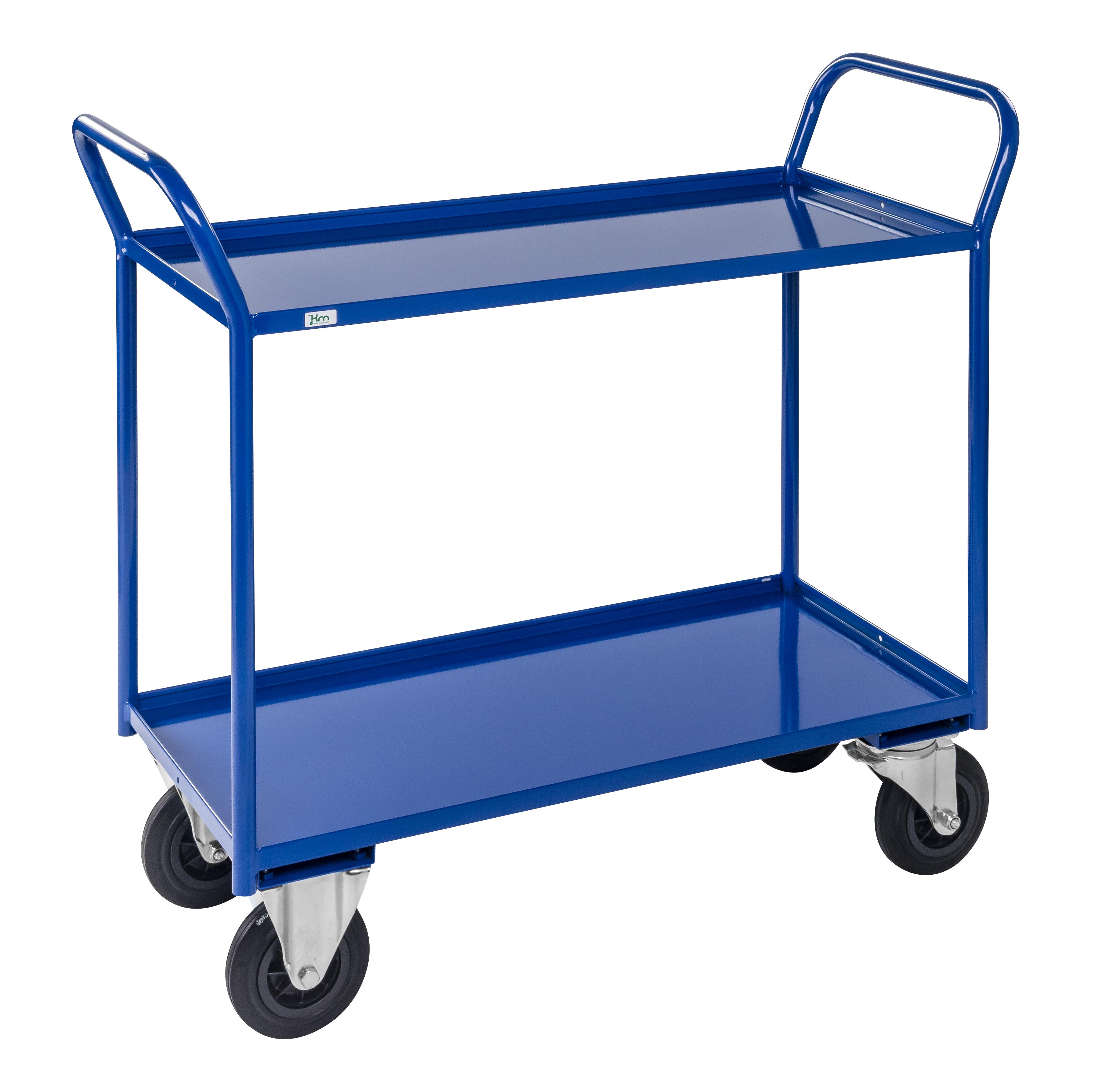 Shelf trolley 2 levels, fully welded KM4126-BB