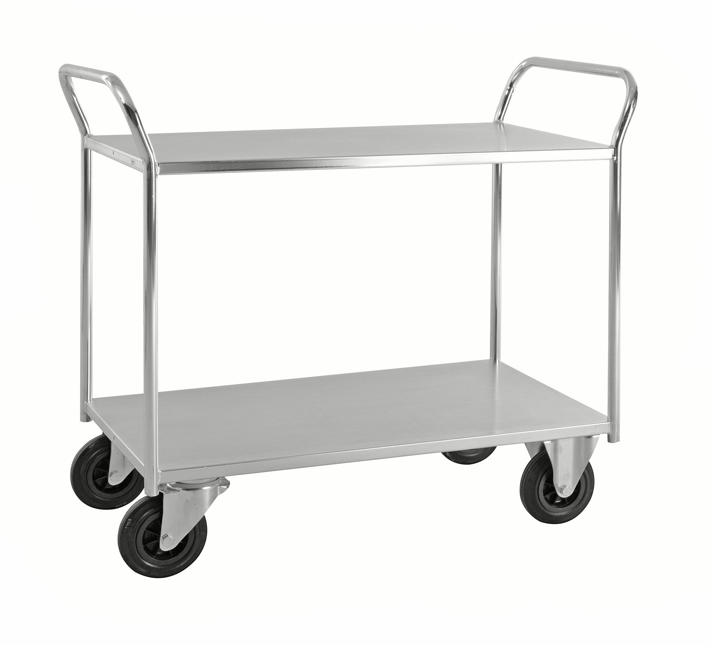Shelf trolley 2 levels, fully welded KM4126-E